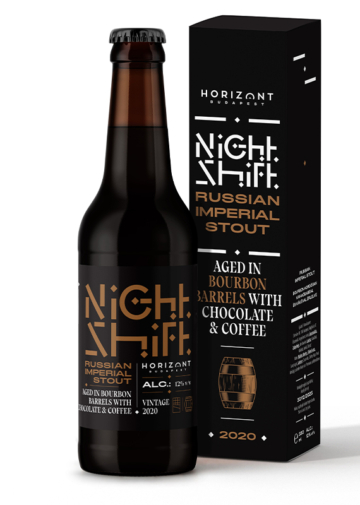 Night Shift Vintage 2020  /  Russian Imperial Stout bourbon hordóban érlelve csokoládéval és kávéval
