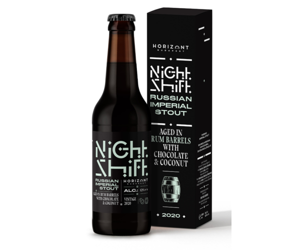 Night Shift Vintage 2020  /  Russian Imperial Stout aged in bourbon barrels with with chocolate and coconut