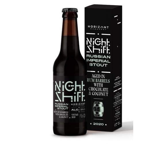 Night Shift Vintage 2020  /  Russian Imperial Stout rumos hordóban érlelve csokoládéval és kókusszal